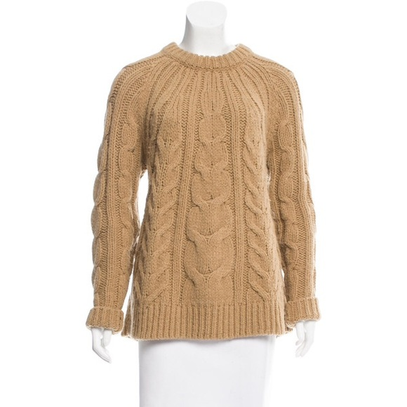51d23cd0a6 Michael Kors camel cable knit sweater. M 5a527485d39ca2681301aa51